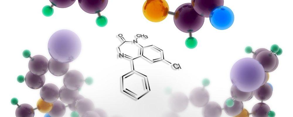 Moleculaire structuur van Diazepam