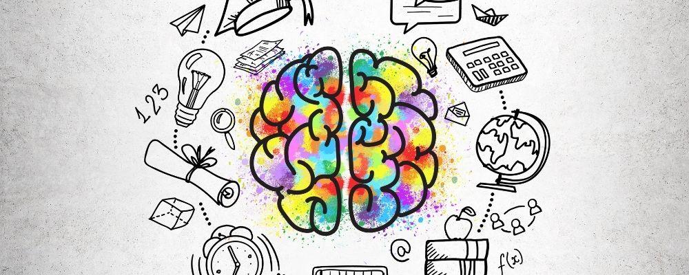 Hersenen met verschillende kanalen