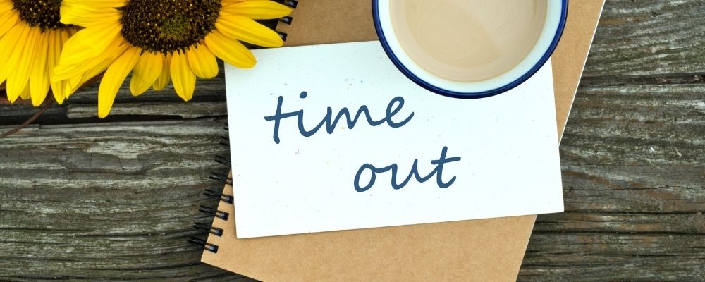 Briefje met time out