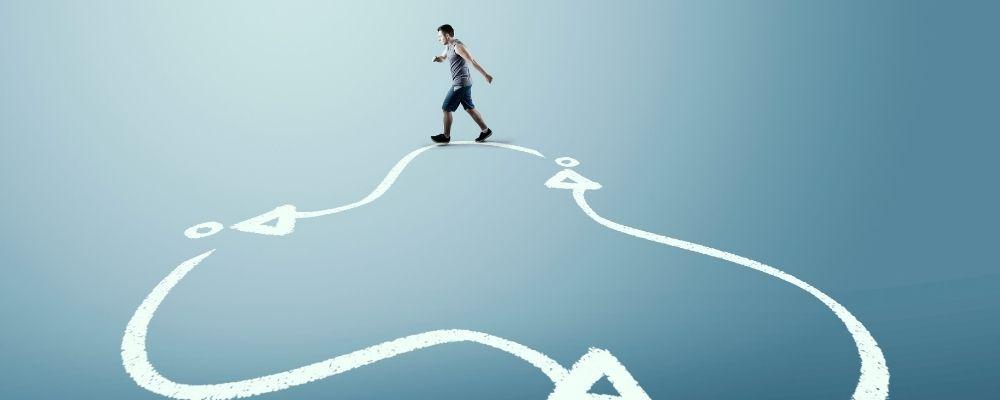 Man loopt in een vicieuze cirkel