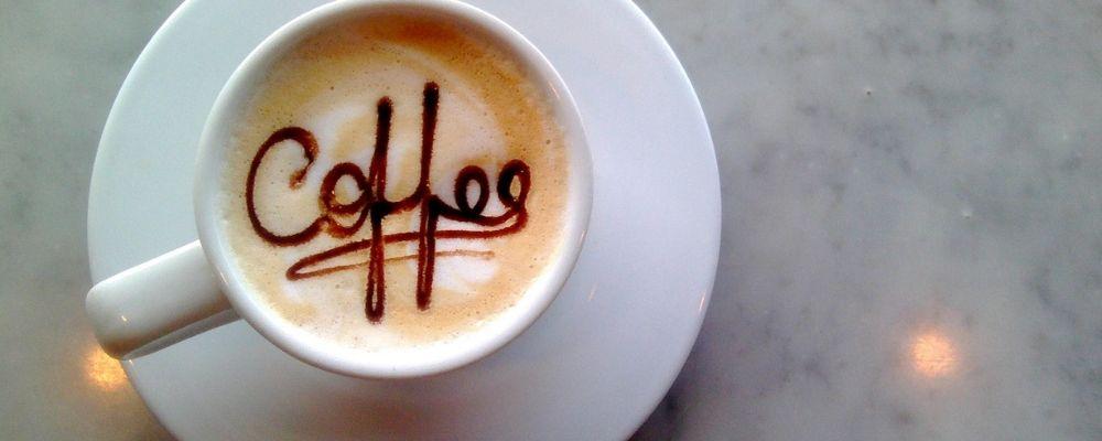 Koffie waar coffee in staat geschreven